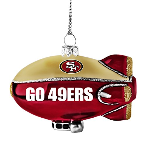 NFL San Francisco 49ers Glitter Blimp Ornament