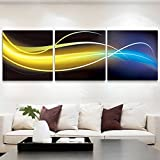 Living room decoration painting/modern and simple decorative painting/triple picture frame/the office study hangs the picture/sofa background wall-B 60x60cm(24x24inch)