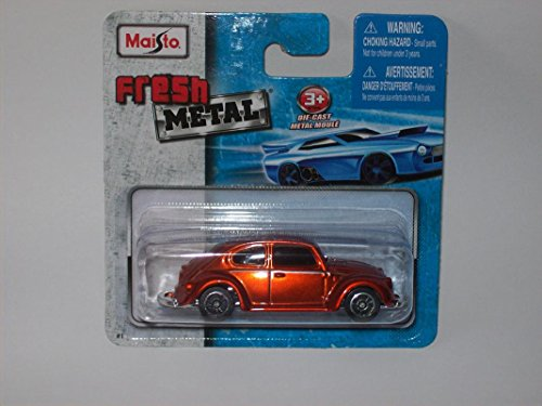 - Maisto Fresh Metal Die-Cast Vehicles ~ VW Volkswagen 1300 Beetle (Burnt Orange)
