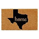 Home & More 102441830 Texas Doormat, 18'' x 30'', Natural/Black