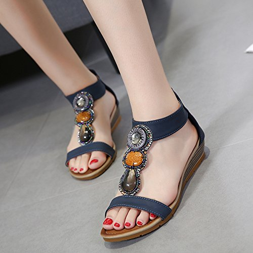 Sandals Open Zuban Chila Toe Women Dark Blue wZOxCq
