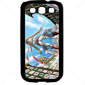 Shingeki no Kyojin Attack on Titan Manga Anime Comic Mikasa Ackerman Samsung Galaxy S3 SIII I9300 TPU Soft Black or White case (Black)