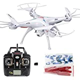 RC Helicopter With Camera - Xiaomax Syma X5C-1 Upgraded Version Quadcopter 2.4GHz 6-Axis Remote Control Helicopter Explorers Drone with HD Camera with 4GB Micro SD Card(White)