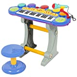 Best Choice Products Musical Kids Electronic Keyboard 37 Key Piano W/ Microphone, Blue