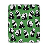 My Little Nest Warm Throw Blanket Panda Green Back Lightweight Microfiber Soft Blanket Everyday Use for Bed Couch Sofa 50'' x 60''