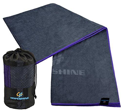 HOPESHINE Yoga Towel Non Slip for Hot Yoga Microfiber Yoga Mat Towel With Grip Perfect Size for Yoga Mat 24 X 72 inch