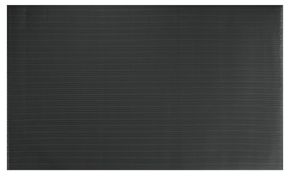 Comfort Step 3/8'' Anti-Fatigue Mat with Ribbed Emboss, Solid Black, 2' x 3' by Portico Systems (Image #3)