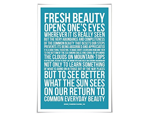 John Muir Quote Art Print Available In 60 Colours And 3 Sizes