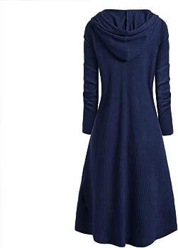 Vestido para Mujer Vintage Sudadera con Capucha Gótico Steampunk Asimetricas Sólido Manga Larga Pulóver Vestido