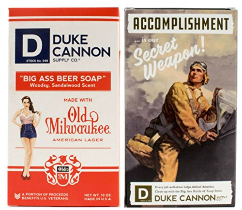 Duke Cannon WWII Edition Big Brick of Soap for Men: Beer Soap and Accomplishment]()