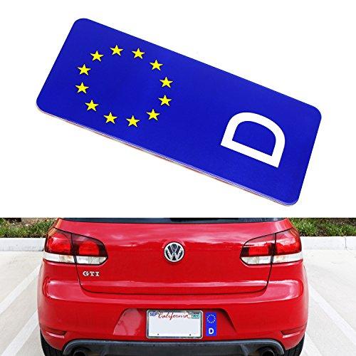 iJDMTOY (1) European Union EU Deutschland Germany Style Rear Bumper, Trunk, License Plate Side Bar Aluminum Sticker - Deutschland Deutschland