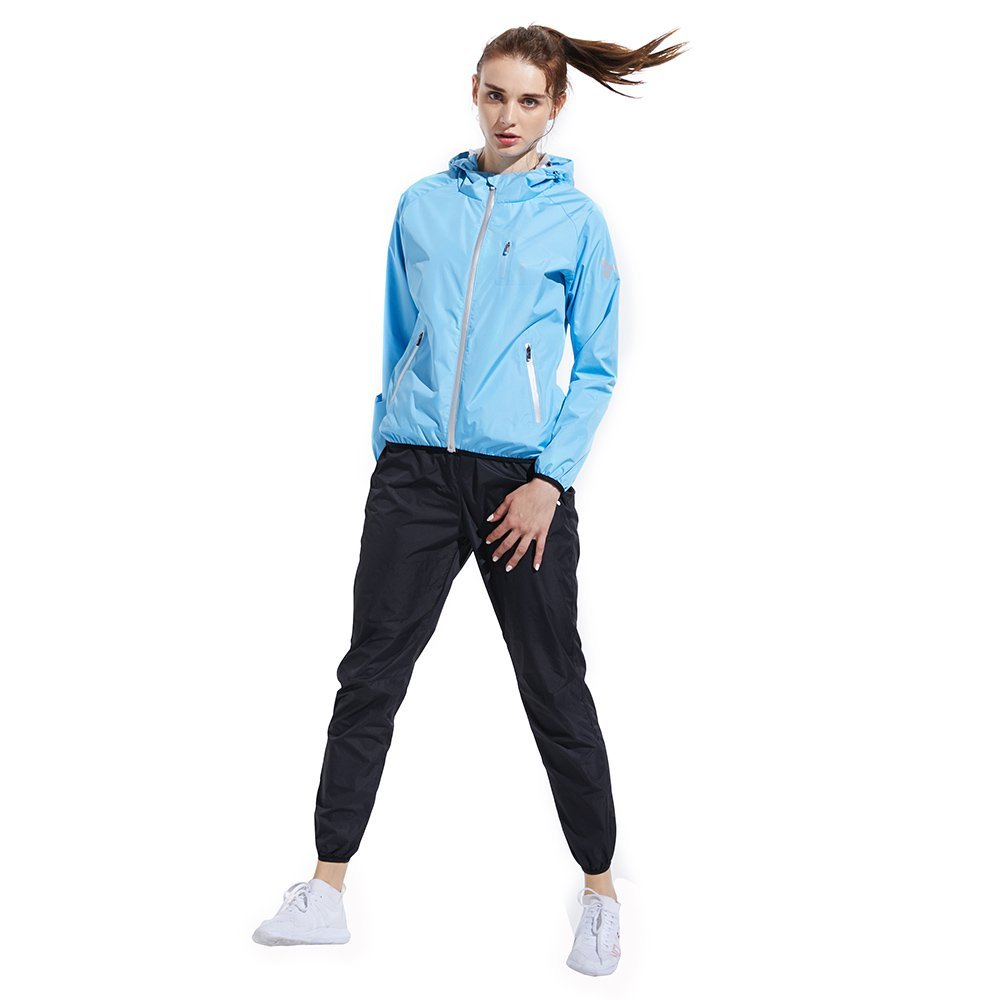 HOTSUIT Sauna Suit Weight Loss for Women Slim Fitness Clothes (Blue,Large) by HOTSUIT (Image #3)