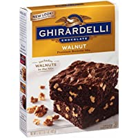 Ghirardelli Chocolate Walnut Brownie Mix, 17-Ounce Boxes (Pack of 12)