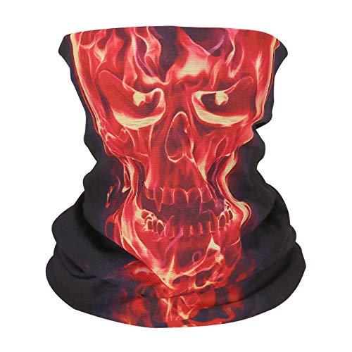 HDE Skull Face Mask Shield Protective Balaclava Neck Gaiter Sun Wind Dust Bandana]()