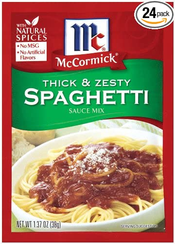 McCormick Spaghetti, Thick & Zesty, 1.37-Ounce Units (Pack of ...