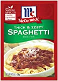 thick pasta sauce - McCormick Spaghetti, Thick & Zesty, 1.37-Ounce Units (Pack of 24)