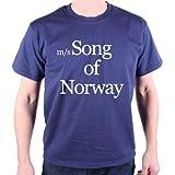 Old Skool Hooligans Song of Norway T-Shirt As Worn by Bowie Medium Blue