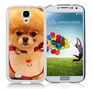 Personalized Samsung S4 TPU Protective Skin Cover Christmas Dog White Samsung Galaxy S4 i9500 Case 23