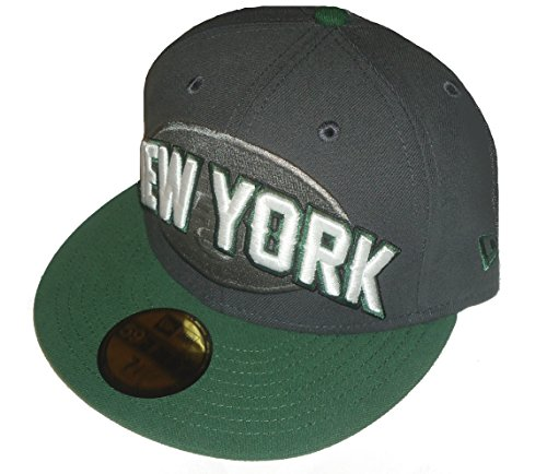 New York Jets New Era 5950 Fitted Size 7 1/4 Hat Cap NFL Alternate Color Scheme - Gray & Green