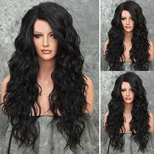 Peluca natural mujer angelof 45 cm Cabello Rizado Lace largos de ...