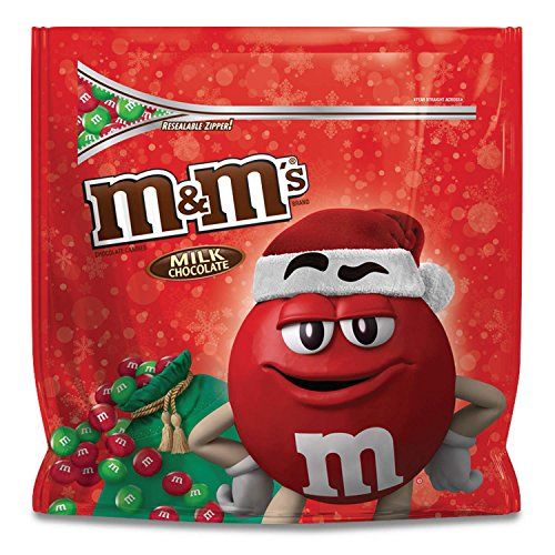 M&M'S Christmas Milk Chocolate Candy Party Size 42-Ounce Bag Christmas Food Treats