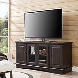 WE Furniture 52 Espresso Wood TV Stand