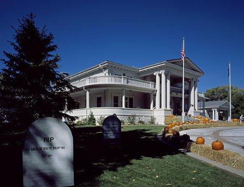 HistoricalFindings Photo: Governor's Mansion,Decorated for Halloween,Carson City,Nevada,NV,Carol Highsmith