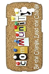 New Community in Movies And TV Hard Cover Skin Case For Samsung Galaxy S3 i9300-black