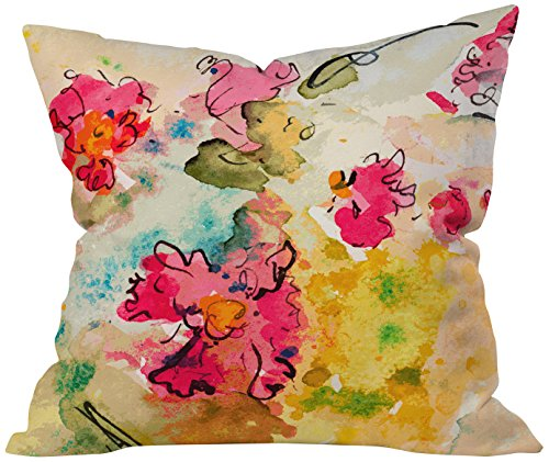 Deny Designs Ginette Fine Art Pink Fantasy Throw Pillow