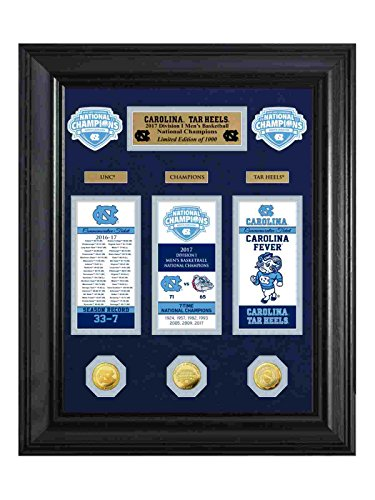 North Carolina Tar Heels 2017 NCAA Champs Deluxe Gold Coin & Ticket Collection by The Highland Mint