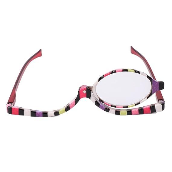 SLYlive Coloré Lunettes de Maquillage,Accessoire Maquiller,Lunettes de Mode  +1.0~+4.0 (+4.0)  Amazon.fr  Auto et Moto 13779ee8651c