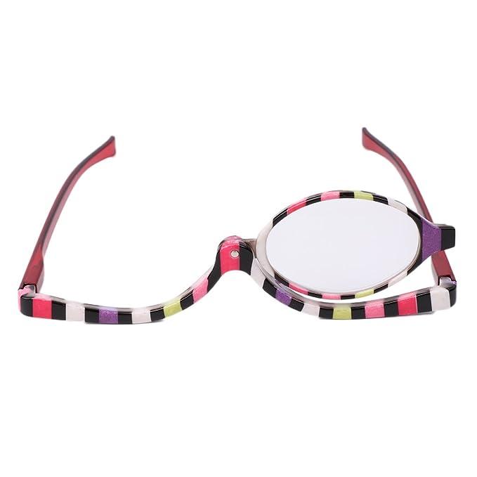ce1ceba40cd9 Logres Magnifying Glasses Makeup Cosmetic Reading Glass Folding Eyeglasses  +1.5  Amazon.co.uk  Clothing