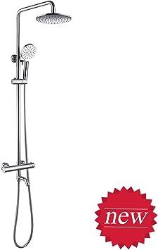 efluky Set de ducha termostatico-2pcs alcachofa ducha+ 38ºC ...
