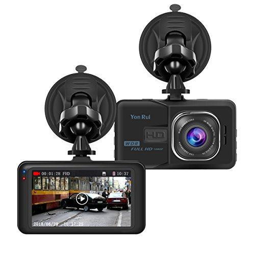 """Dash Cam Car DVR Dashboard Camera Recorder with Full HD 1080P 3"""" LCD Screen Car Recorder for Cars, Night Vision video Recorder/Traffic Dashboard Camcorder Loop Recording-No Card by Ananteke"""