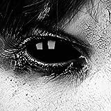 Lentillas divertidas esclera; 6 meses;par lentillas Negras, lentes de Contacto alocadas y divertidas Halloween carnaval Zombie