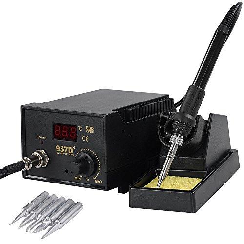 937D+ ESD Soldering Rework Station Digital Adjustable Welding Solder SMD Tool by Sunbizpro