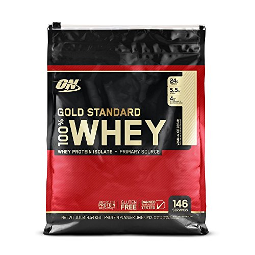 Price comparison product image Optimum Nutrition Gold Standard 100% Whey Protein Powder,  Vanilla Ice Cream,  10 Pound