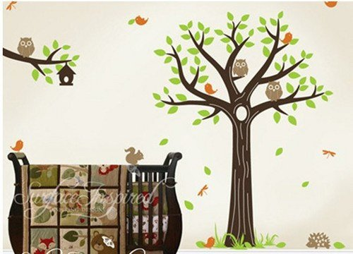 vinyl-wall-decal-nursery-baby-tree-decals-forest-friend-animal-branch-cute-owl-hedgehog-dragonfly-le