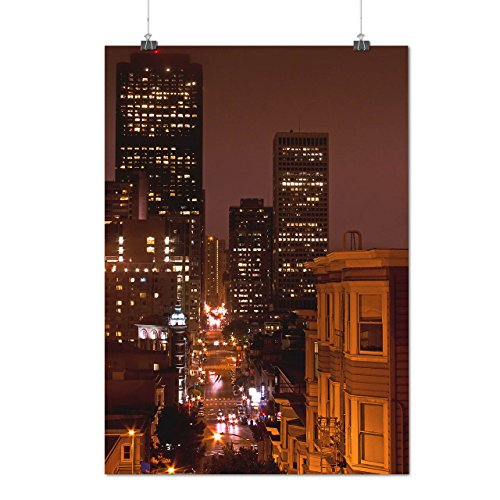 Buy cheap big city night life town matte glossy poster 12x17 inches wellcoda