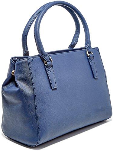 Trussardi Jeans Ischia Tote, Borsa a Mano Donna, 35x40x16 cm (W x H x L) Blu (Blue Navy)