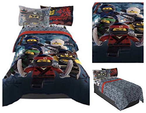 LEGO Ninjago Comforter & Bedding Sheet Set - Twin