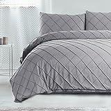 Bedsure Diamond Pattern Duvet Cover Set Twin Size Grey Microfiber Bedding Sets Collections