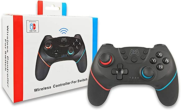 GUOQIAO Mando a Distancia inalámbrico Pro Gamepad para Consola Nintendo Switch, Color Negro: Amazon.es: Electrónica