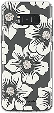 kate spade new york Protective Hardshell Case for Samsung Galaxy S8 Plus - Hollyhock Floral Clear/Cream with S