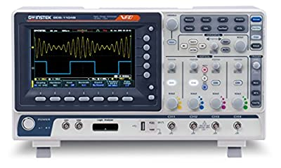 GW Instek GDS-1102B Digital Storage Oscilloscope, 2-Channel, 1 GSa/s Maximum Sampling Rate, 100 MHz, 10M Maximum Memory Depth