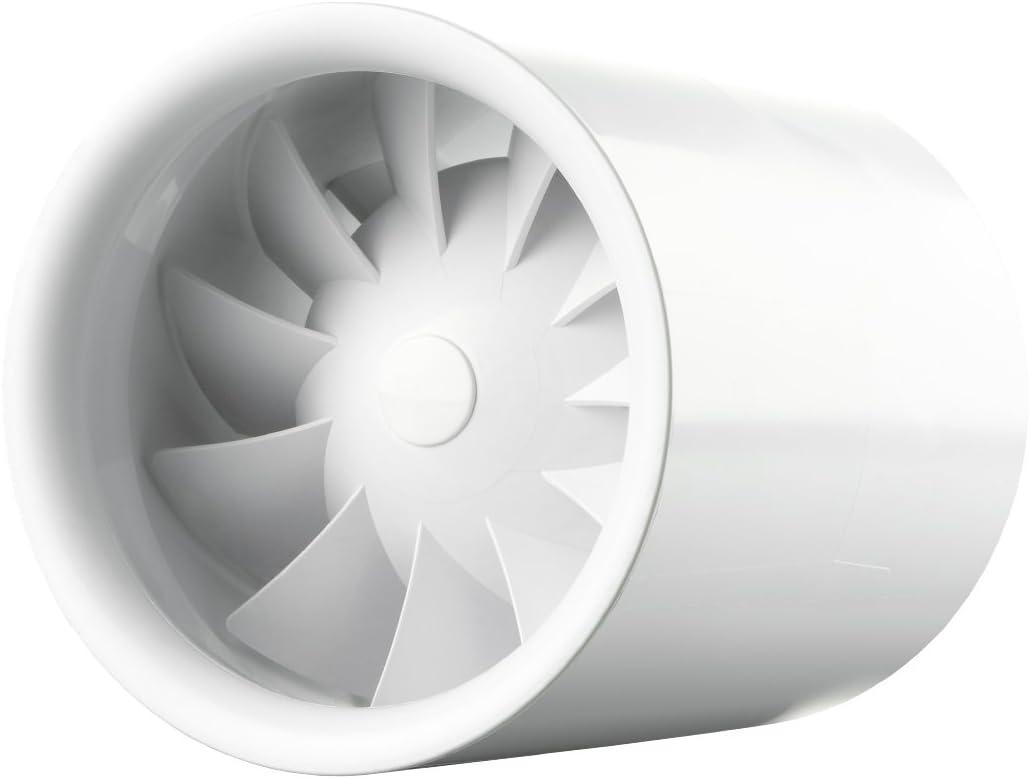 Ventilateur Sound Less Turbine Duo–Silencieux tuyau comme le vent, forte comme une turbine, blanc 7.50 wattsW, 230.00 voltsV