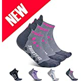 Thirty 48 Compression Low-Cut Running Socks for Men and Women (XLarge - Women 11-13 // Men 12-14, [3 Pairs] Pink/Gray)