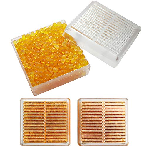 Silica Gel,60g Desiccant Canister,2 Packs,Safe Moisture Absorber for Camera Gun Electronics Storage,Reusable Orange Indicating Silica Gel Beads,Non-Toxic