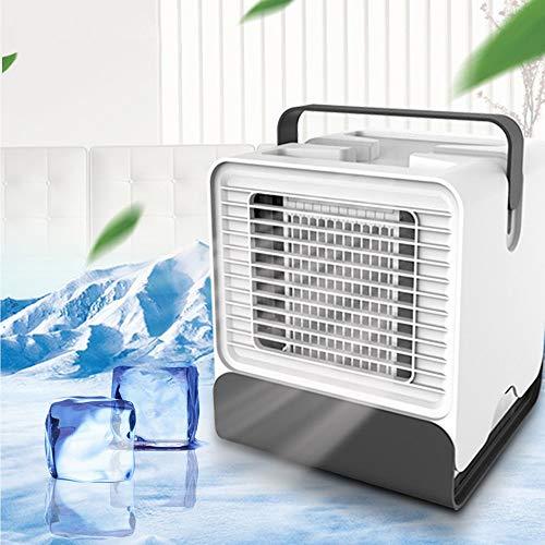JIANword USB Mini Portable Air Conditioning Humidifier Purifier Desktop Ultra Quiet Cooling Fan Office Home