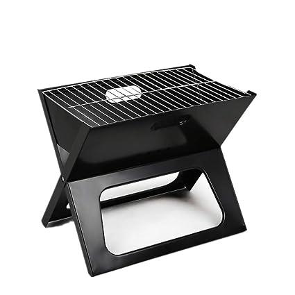 GRASSAIR Parrilla Portable del BBQ del Carbón De Leña En La Barbacoa Al Aire Libre Abierta
